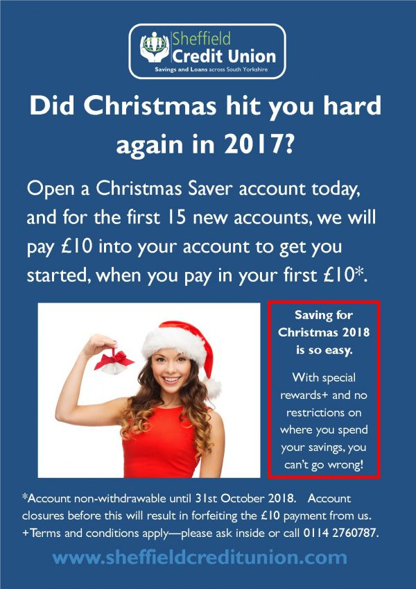 January special – Christmas Savings Accounts special offer available for 2018