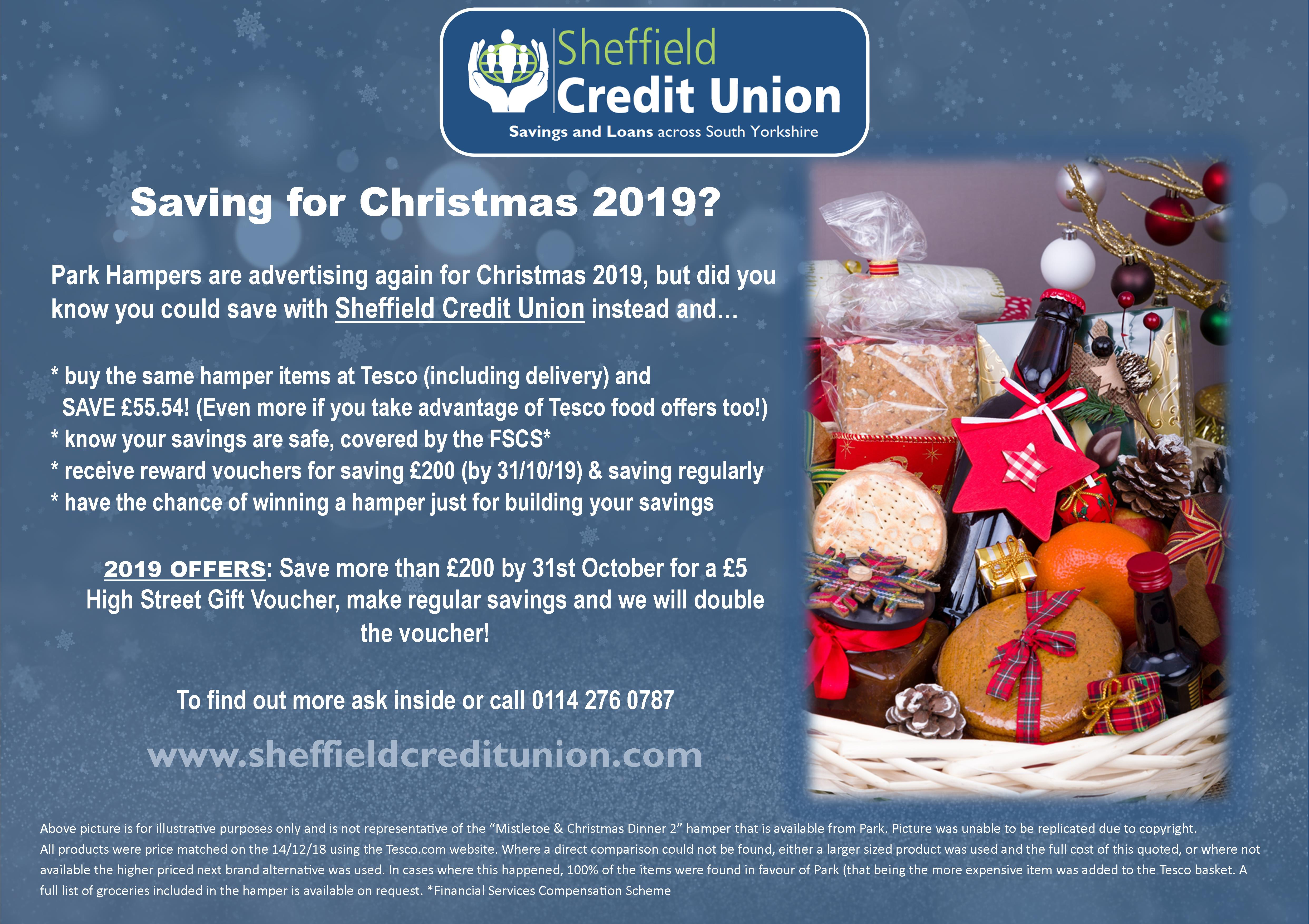 Christmas Loans 2019 Christmas Saver Poster A1   Sheffield Credit Union